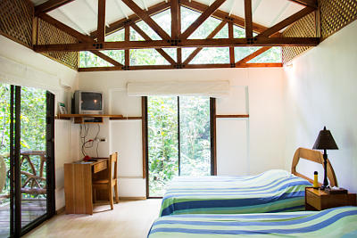 Photo from a sleeping room of a bungalow for holiday rental in Portasol, Costa Rica