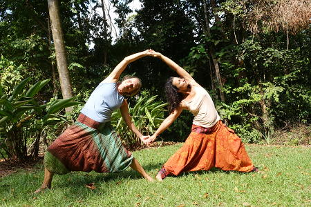 Photo of the parque of Portasol in the rainforest also for Yoga exercises
