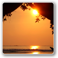 Picture of a sunset at the central Pacific coast of Costa Rica: About me Doris Müller-Weith